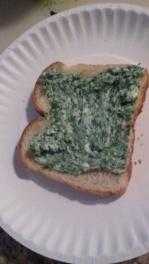Garlic Mustard Spread on Toast