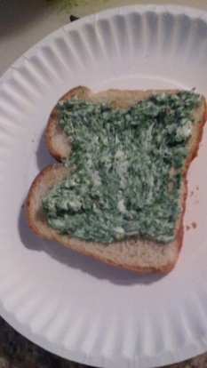 Garlic Mustard Spread on Toast